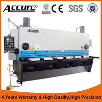 8X3200mm China Accurl cnc hydraulic guillotine cutter,sheet metal guillotine shears with CE certification