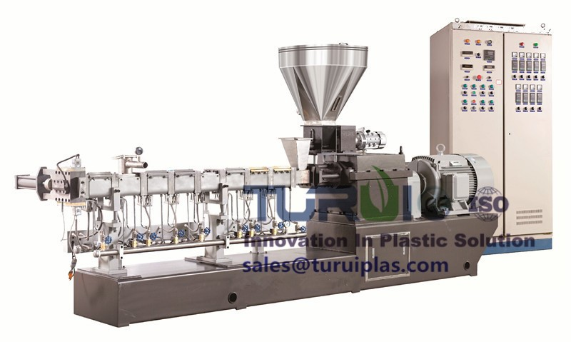 GTE-20 double screw water-cooled strip granulation unit
