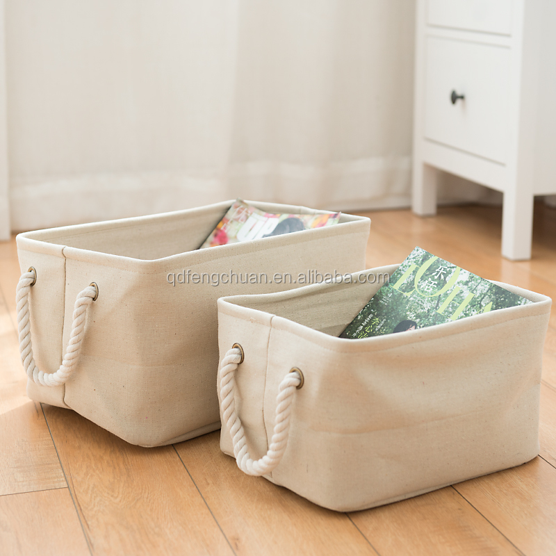 Wholesale Cotton and linen toy storage / baskets for storage