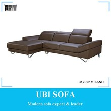 Modern Design leather corner sofaMY059 MILANO