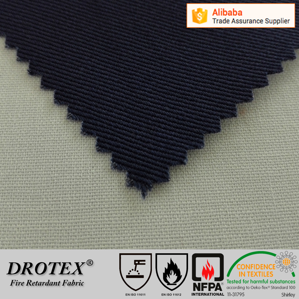 2016 wholesale customized non flammable fire retardant workwear fabric