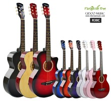 "38"" Cheap colorful acoustic guitar for sale made in China"