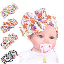 Wholesale Kids Toddler Infant Flower Hairband Floral Bow Headbands For Baby Girls Cotton Stretch Hairband Headbands