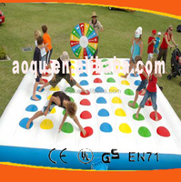 inflatable twister game/inflatable twister mat for sale/giant twister game mattress