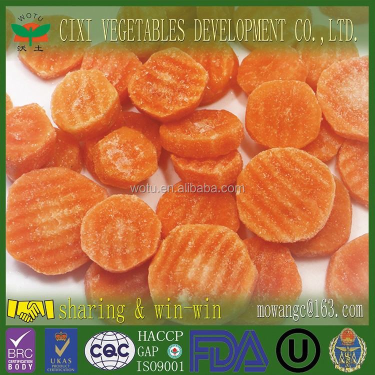 IQF Crinkle vegetable sliced Frozen Carrot