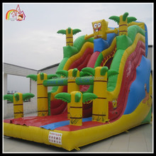 Popular large outdoor giant inflatable bounce house slide for sale
