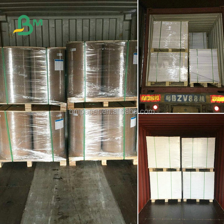 100% Wood Pulp 105gsm 128gsm 157gsm 200gsm 250gsm 400mm 500mm Roll Width Glossy Coated Art Paper For Printing