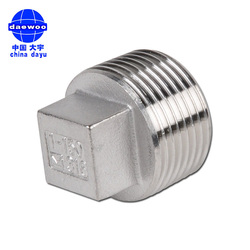 "Pipe fitting bull plug stainless steel 316/304 male thread 1"" Square Head Pipe Fitting Plug"