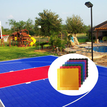 Anti static non toxic shock absorption street backyard basketball court plastic grid sports flooring tiles covering price