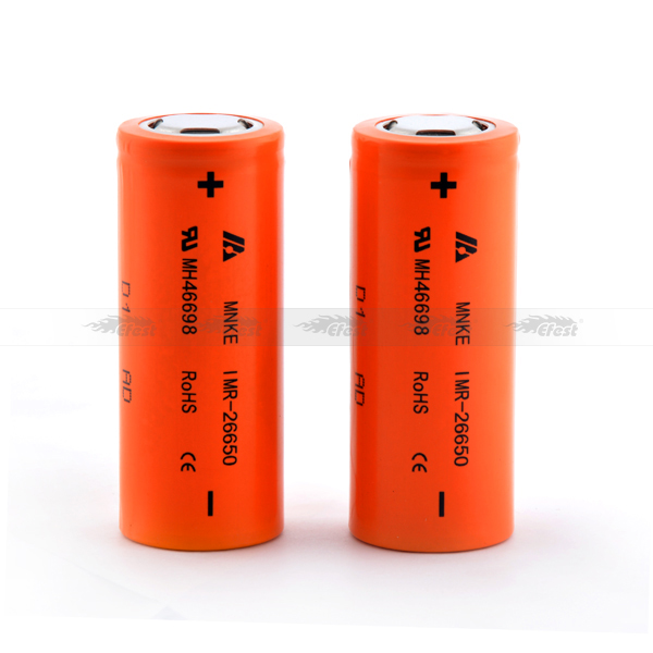 Top selling 26650 rechargeable battery 4.2v 26650 li ion battery athentic MNKE 26650 3500mah