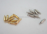 Factory supply brass necklace screw clasp ,jewelry screw clasp
