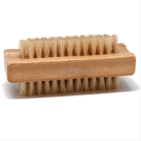 Two Sides Bristle Wooden Nail Cleaning Brush
