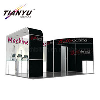 free design 15x15ft skin care display stand trade show exhibition booth