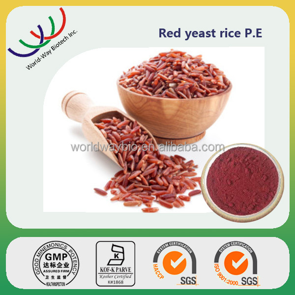free sample HACCP KOSHER FDA certified supplier red yeast rice extract monacolin K