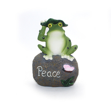 Outdoor frog statue decor garden frog stepping stone
