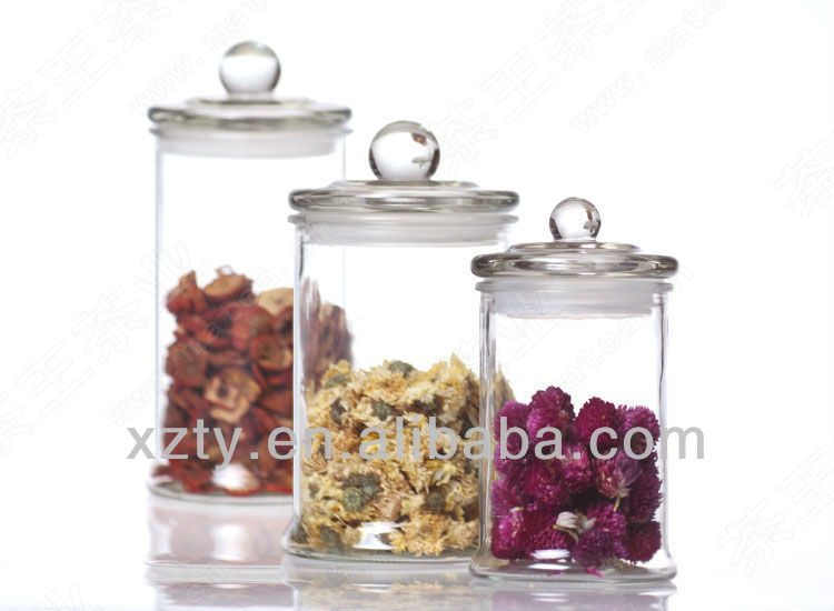 glass jars and lid / glass jar with lid / decorative glass jars and lids