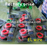 2014 Hot sale 3m long Flexible EL Neon Wire 11 colors available