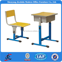 school furniture steel table and chair adjustable desks kids student study reading desk cheap wooden adjustable school desk