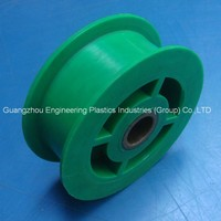 Guangzhou factory high precise mold colored nylon NYLATRON NSM pulley hollow plastic wheel