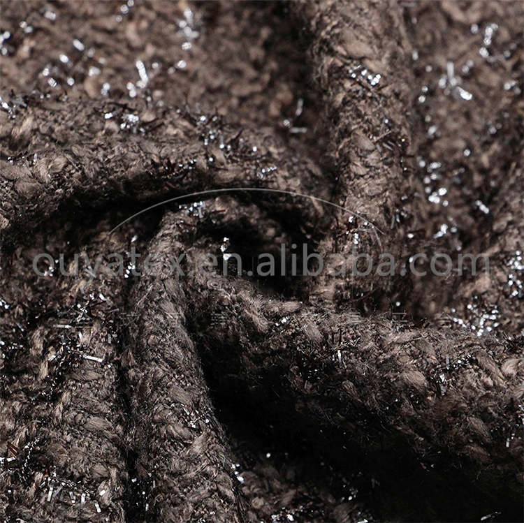 100% polyester luxury and high two color sequin fabric