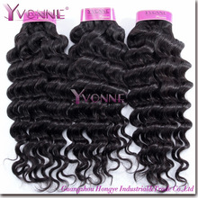 Can be dyed Deep Wave 100% Virgin Human Indian remy hair