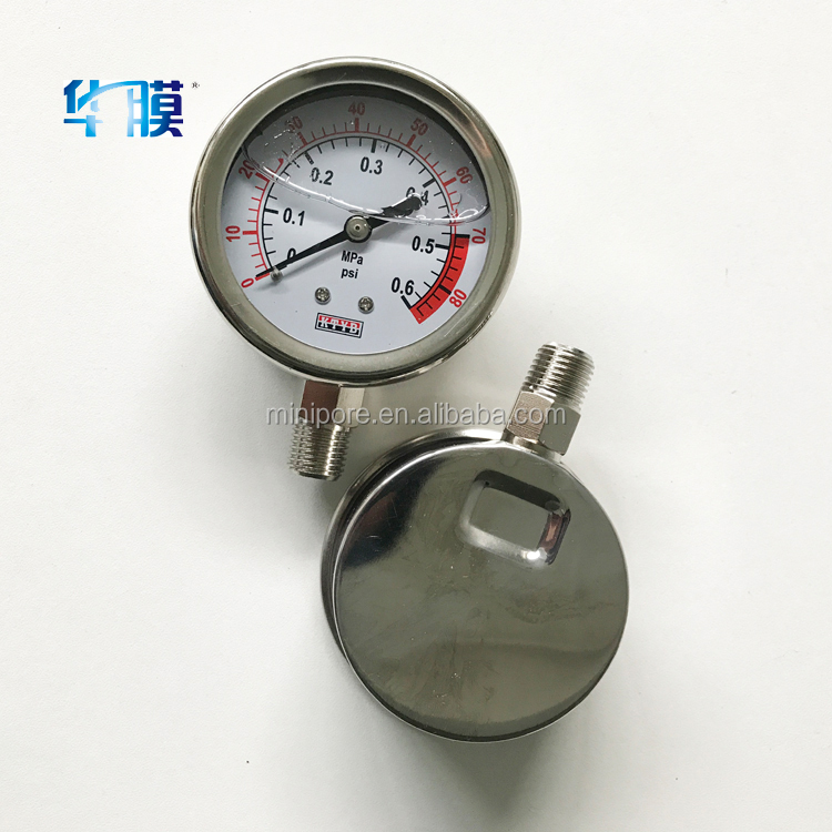 Stainless Steel bottom installation differential pressure gauge / digital water pressure gauge price