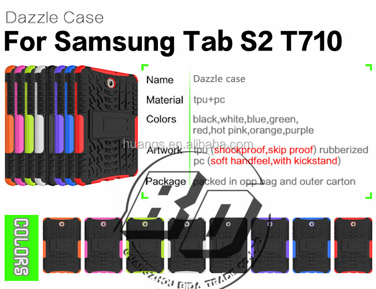 Wholesale Popular heavy duty armor kickstand TPU+PC combo tablet case For Samsung Galaxy Tab S2 8.0 T710 China Supplier