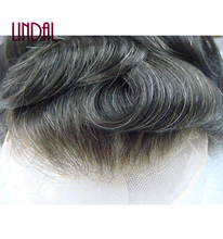 Human Hair Patch Wig for Men French Lace