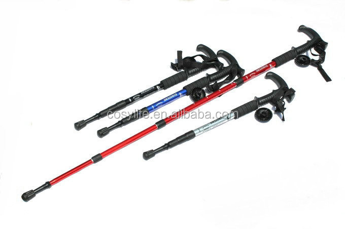 Walking Cane Trekking Pole Telescope Hiking Stick Mountaineering Climb Ultralight Nordic Walking