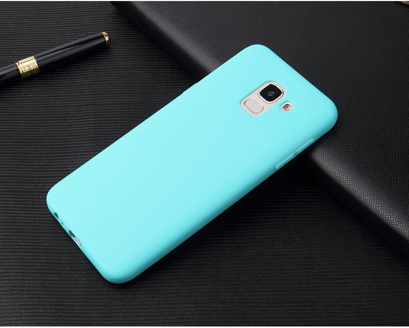 Cellphone accessories soft color tpu phone case for Samsung J6 2018