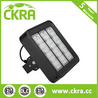 DLC and ETL UL listed industrial LED warehouse gym flood light black coating outdoor high low bay highbay light