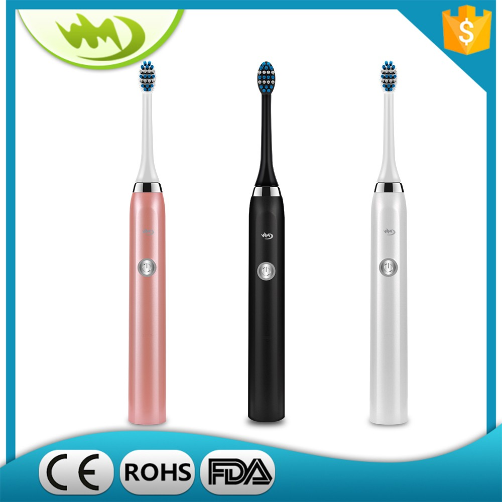 Sonic Electric Toothbrush Waterproof Whitening Prevent Tooth Decay Removes Plaque with 2 Extra Replacement Brush Heads