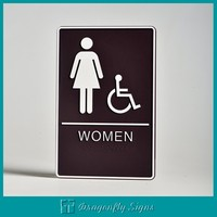 custom toilet signs for hotel