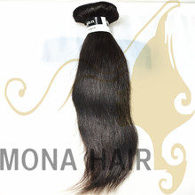 Wholesale Natural black with straight style hair wefts ,import indian hair