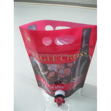 stand up vitop wine bag/stand up spout wine bag