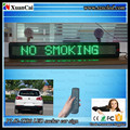 CE RoHS 65x9.7x3.4cm 12-24V windshield glass remote control Taxi advertisement led moving message display board
