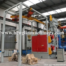 Free shiping Hook Type Shot Blasting Machine Automatic Sand Blasting Machine for Sale