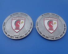 personalize celebrate club 50 years souvenir metal logo coin badges wholesale