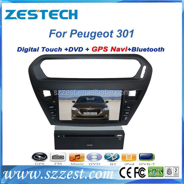 ZESTECH double din car dvd for peugeot 301 with 8 inch in dash screen auto car accessories