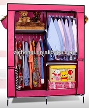 double canvas storage wardrobe TM-208