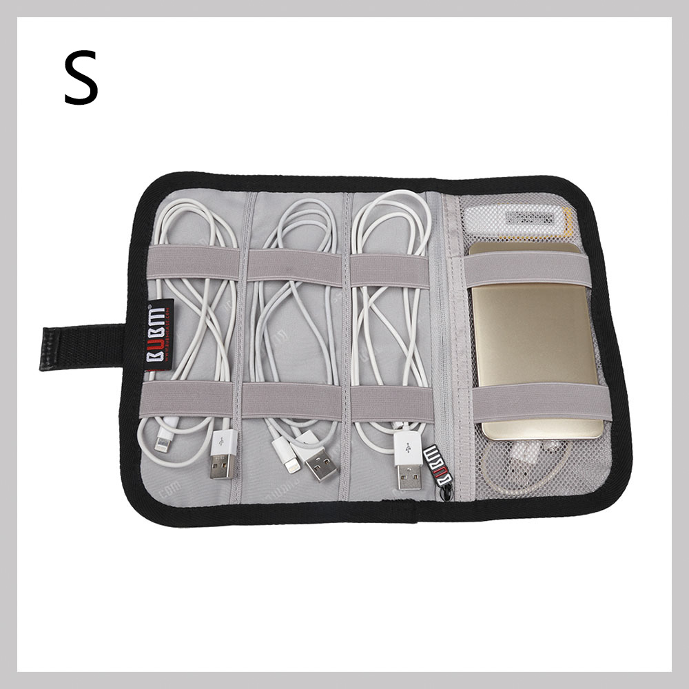 folding organizer cable case for flash disks