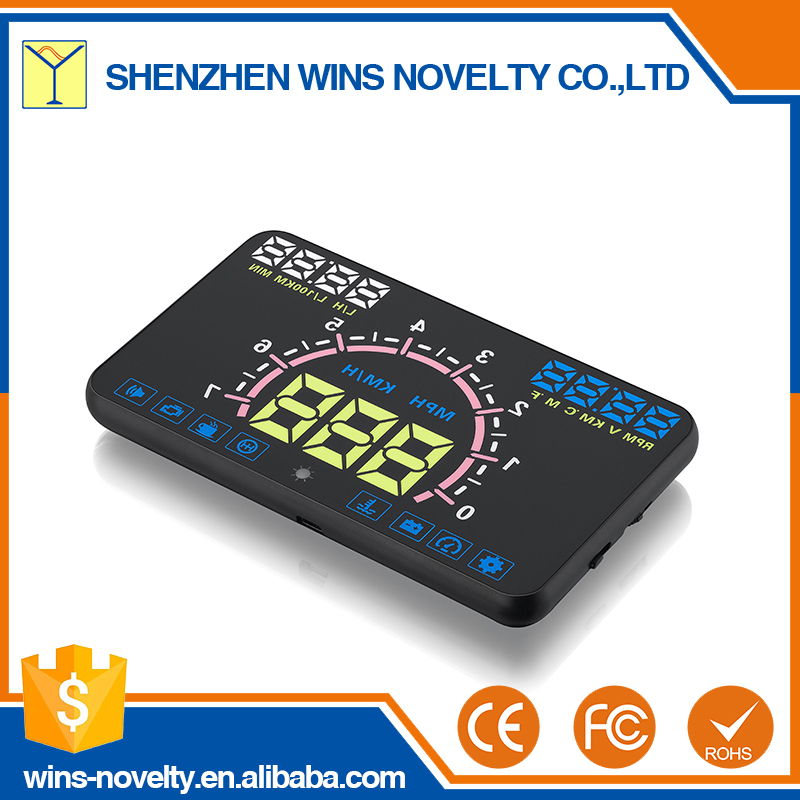 E350 over speed alarm 5.8 inch auto gps heads up display