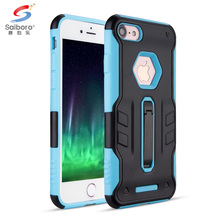 High impact hybrid shockproof tpu pc kickstand case cover for iphone 6 7 7 plus
