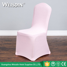 China wholesale pink 100% polyester spandex chair covers for weddings