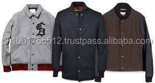 Melton Wool Varsity Jackets With Top quality Leather Sleeves