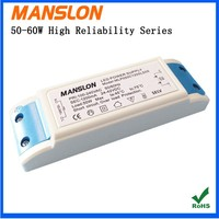 Manslon China 50w constant current led driver 60w 1500ma output led switching power supply