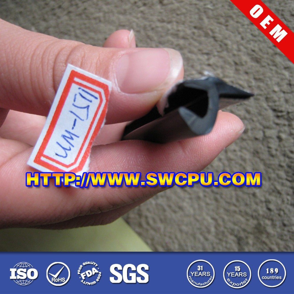 Black wooden door rubber seals with the good quality