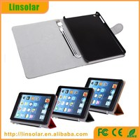 For iPad Mini Ultra Thin Leather Battery Case 6000mAh with charging cable Made in China