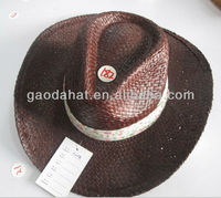 2013 Fashion Wholesale purple Paper Straw Cowboy hat for beach