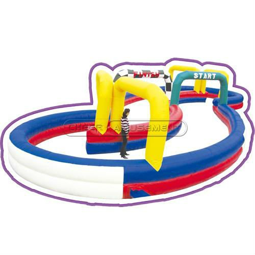 Cheer Amusement Interactive Product Inflatable sport game racing track